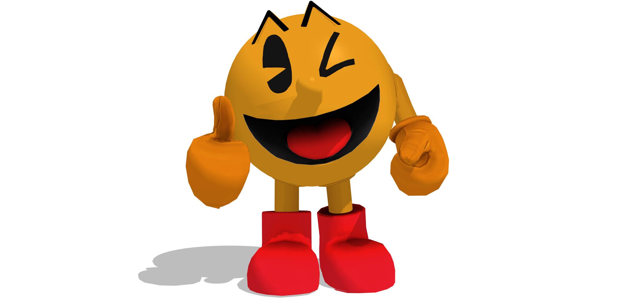 Pacman clipart orange. Mmd wii u pac