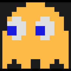 Clyde character giant bomb. Pacman clipart orange