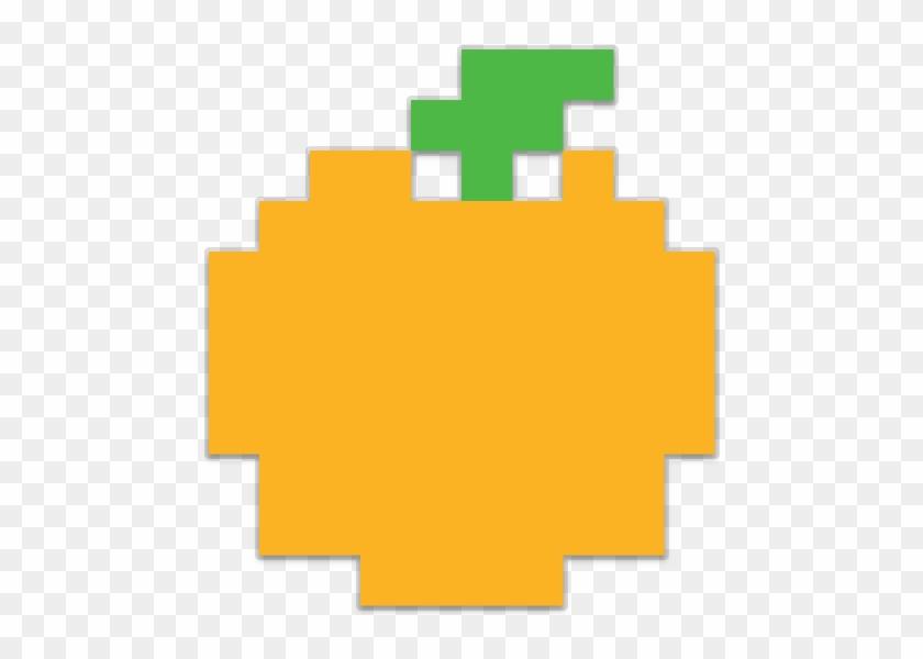 Pixel pac man fruit. Pacman clipart orange