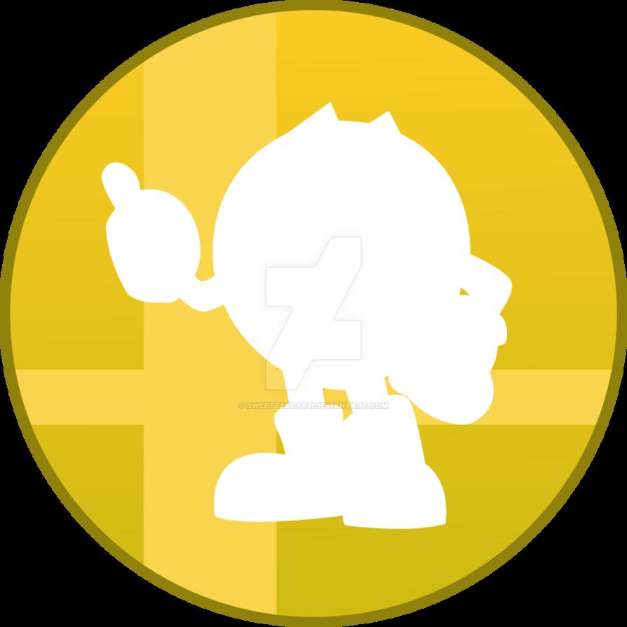 Pacman clipart vector. Super smash bros button