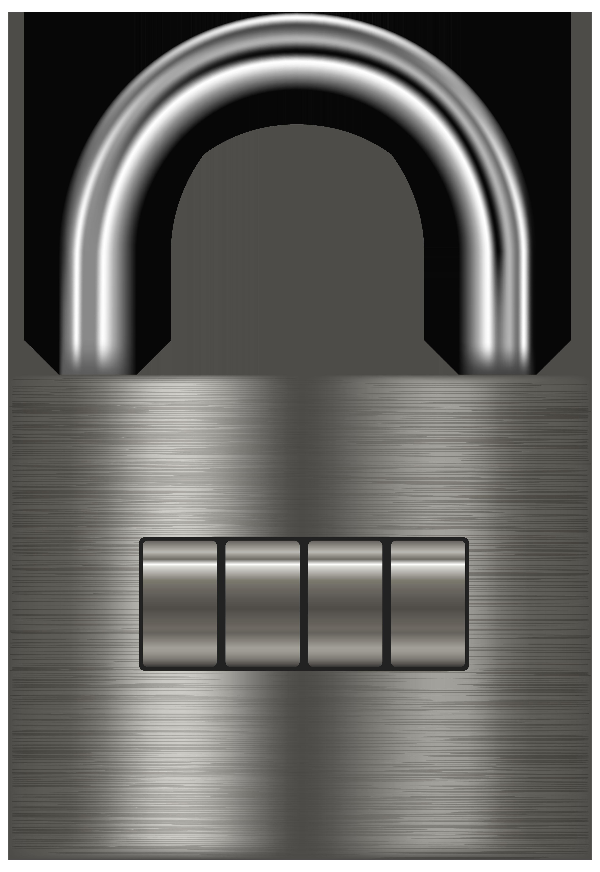 Lock clipart free jail. Silver padlock png clip
