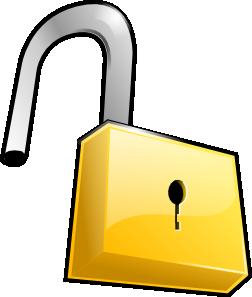 Padlock clipart. Open lock clip art