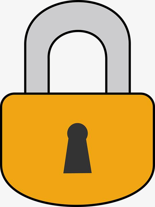 Padlock clipart. Decorative lock locking png