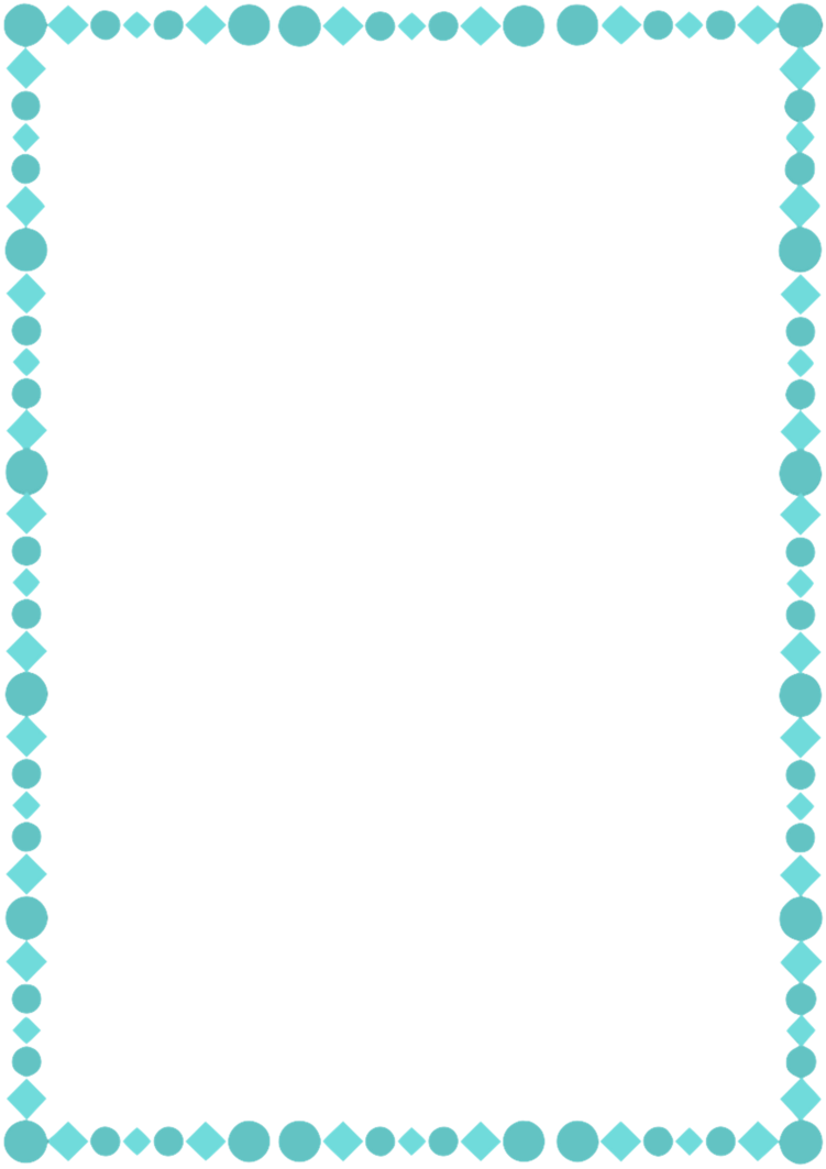 A teal by whimsinkal. Page border png