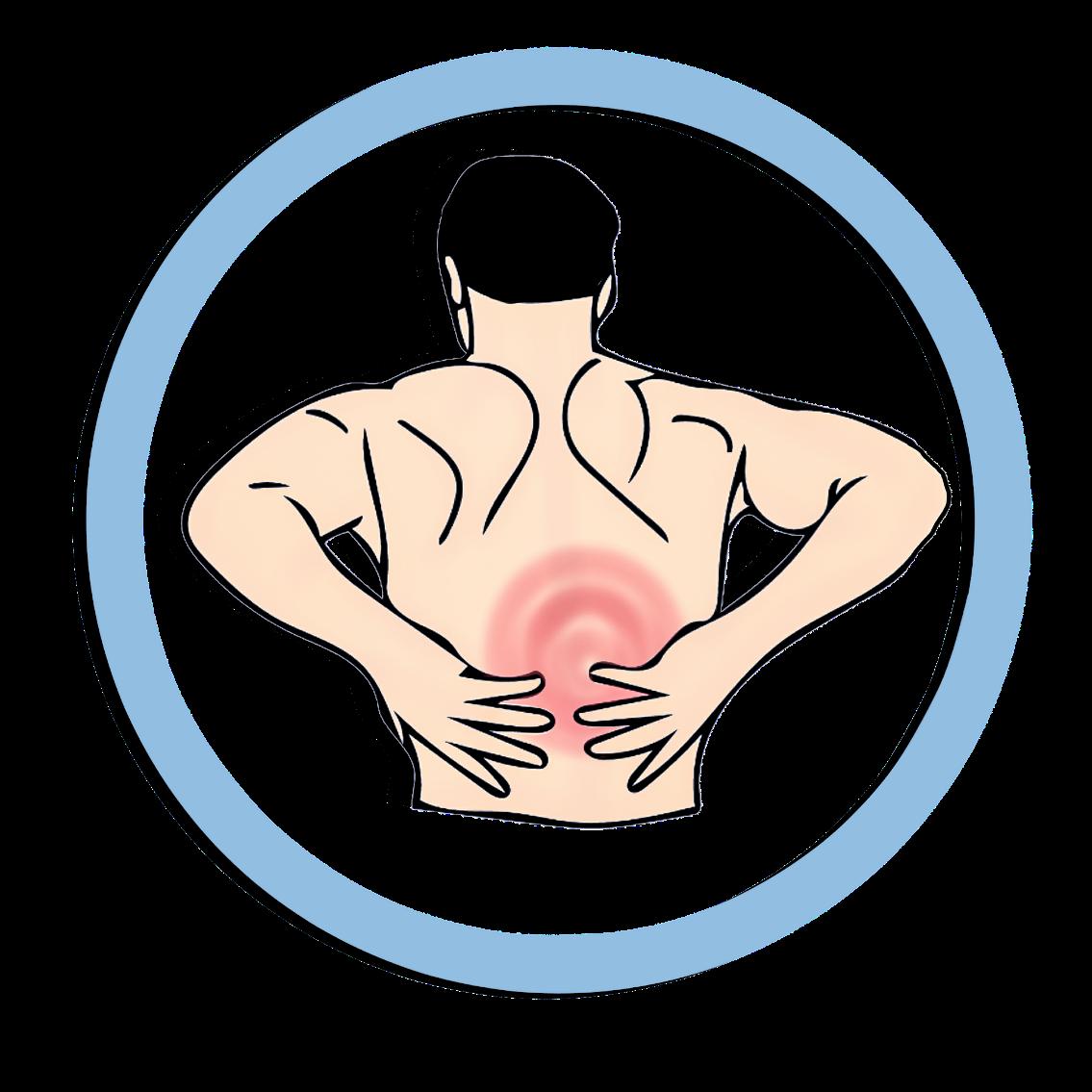 Treatments for lower back. Pain clipart backache