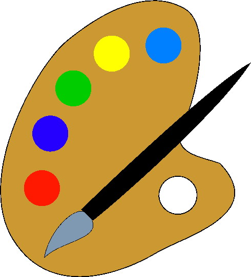 Painting clip art picgifs. Paint clipart