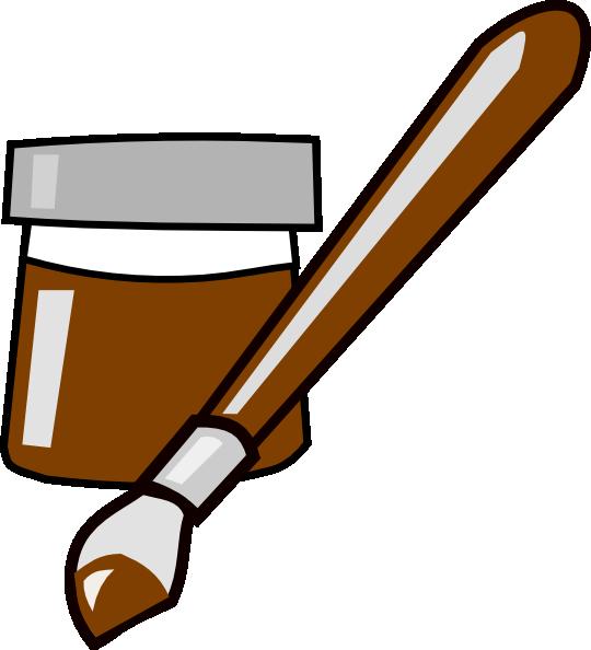 Paintbrush clipart paint bucket. Clip art at clker