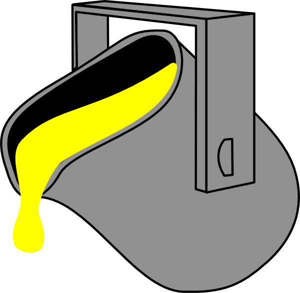 Yellow bucket clip art. Paint clipart box