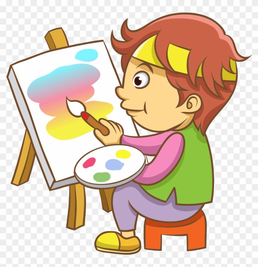 X free clip art. Paint clipart boy
