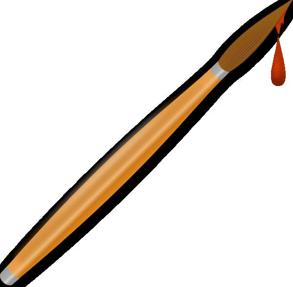 Paint brush drops clip. Paintbrush clipart small