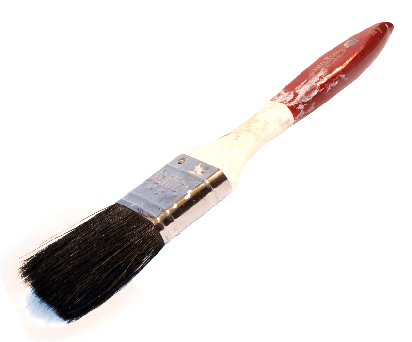 Brush png free images. Painter clipart red paint bucket