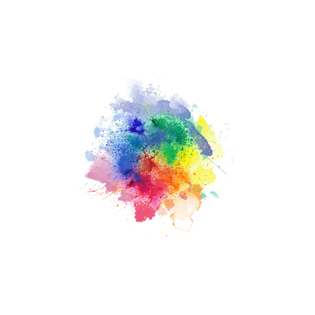 Rainbow colorful colors splatter. Splash clipart burst