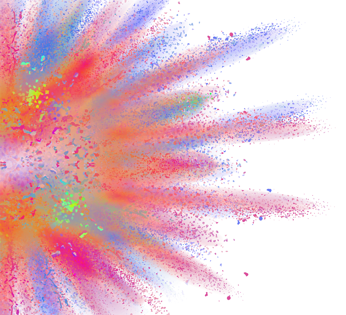 Explosion explode colorful colors. Splash clipart burst