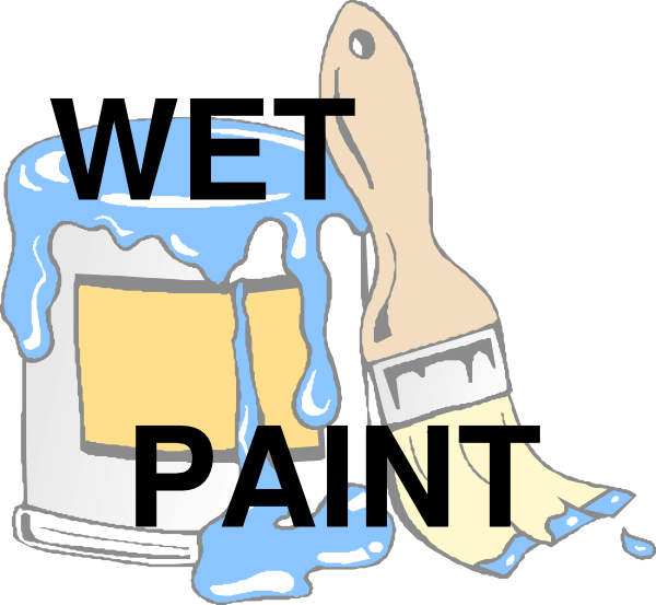 Paint clip art at. Wednesday clipart wet
