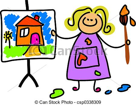 Paint clipart child painting. Cliparts art free download