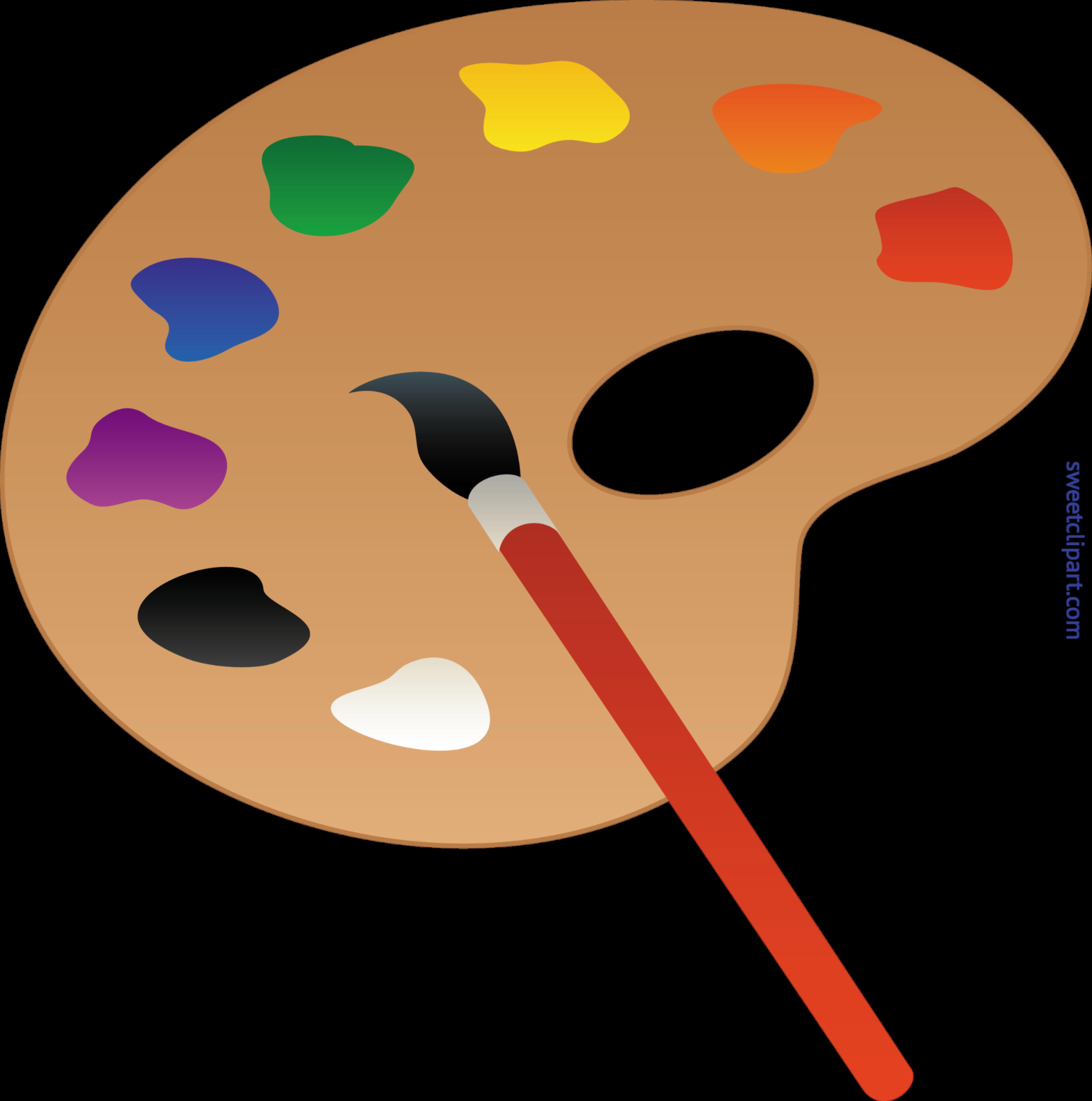 Painter clipart art classroom. Palette clip sweet