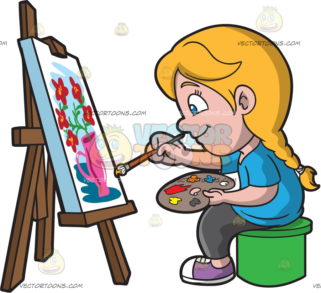Cliparts free download best. Paint clipart girl painting