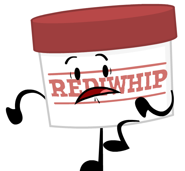 Object terror cream pose. Whip clipart whipped