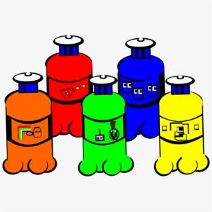 Clip art transparent cartoon. Paintbrush clipart paint bottle
