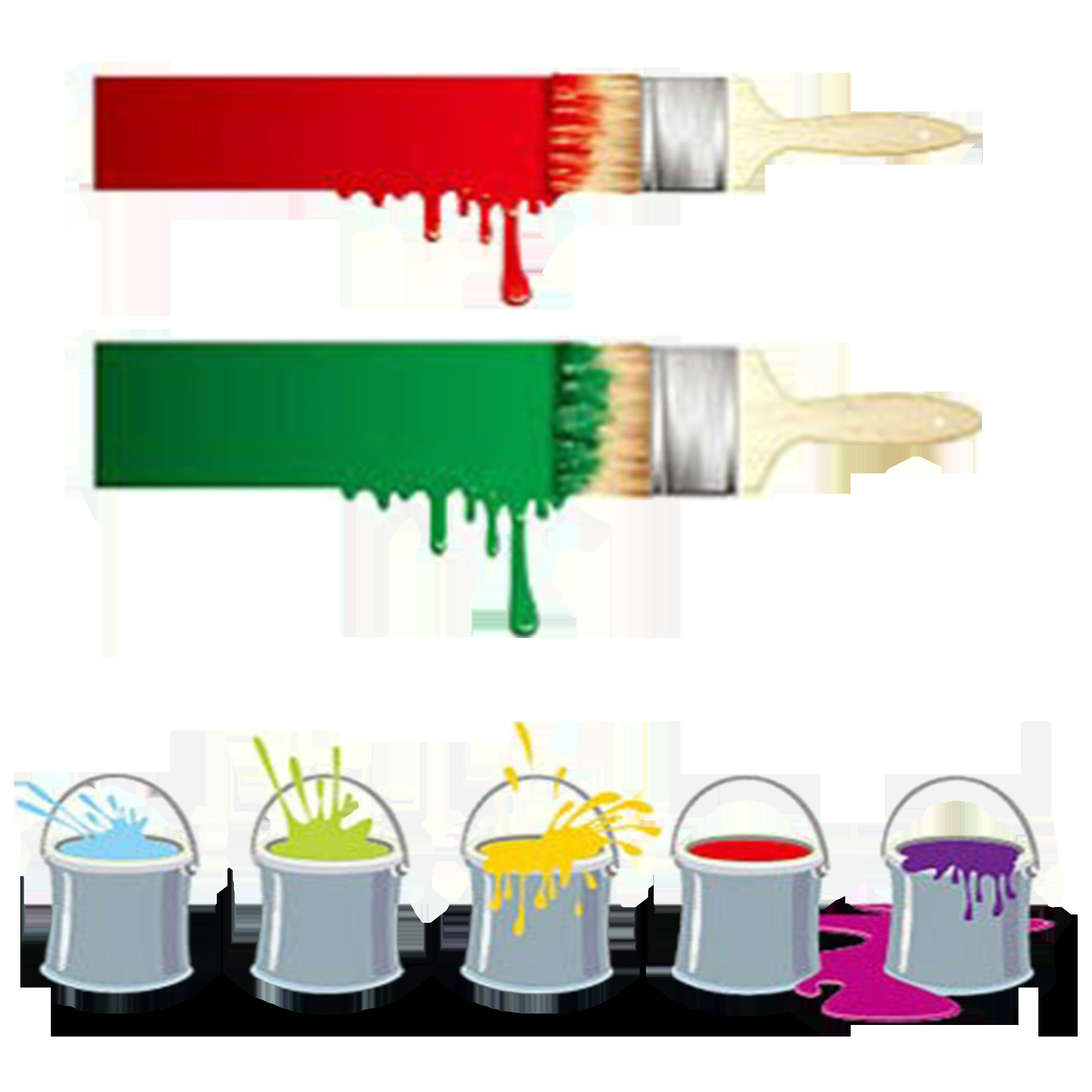 Painting clip art brushes. Paintbrush clipart paint bucket