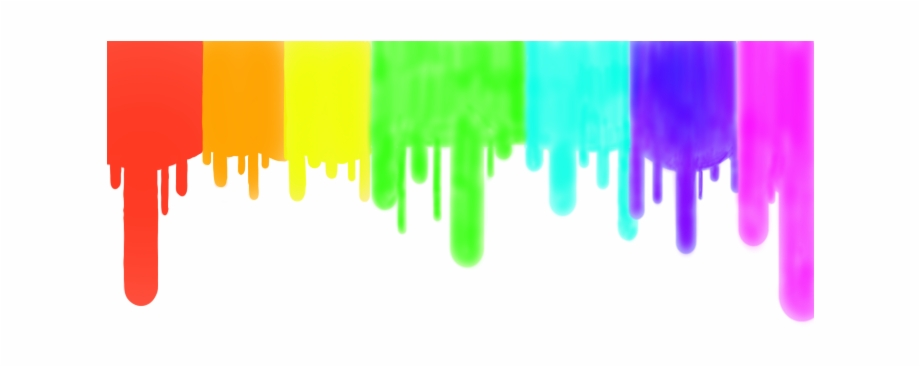 Neon rainbow dripping png. Paint clipart paint drip