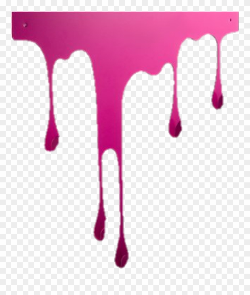 Paint clipart paint drip. Border edging frame pink