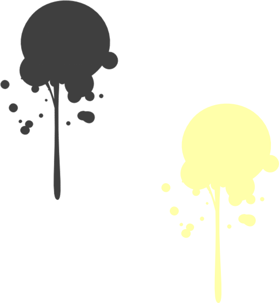 Yellow moved clip art. Paint clipart paint drip