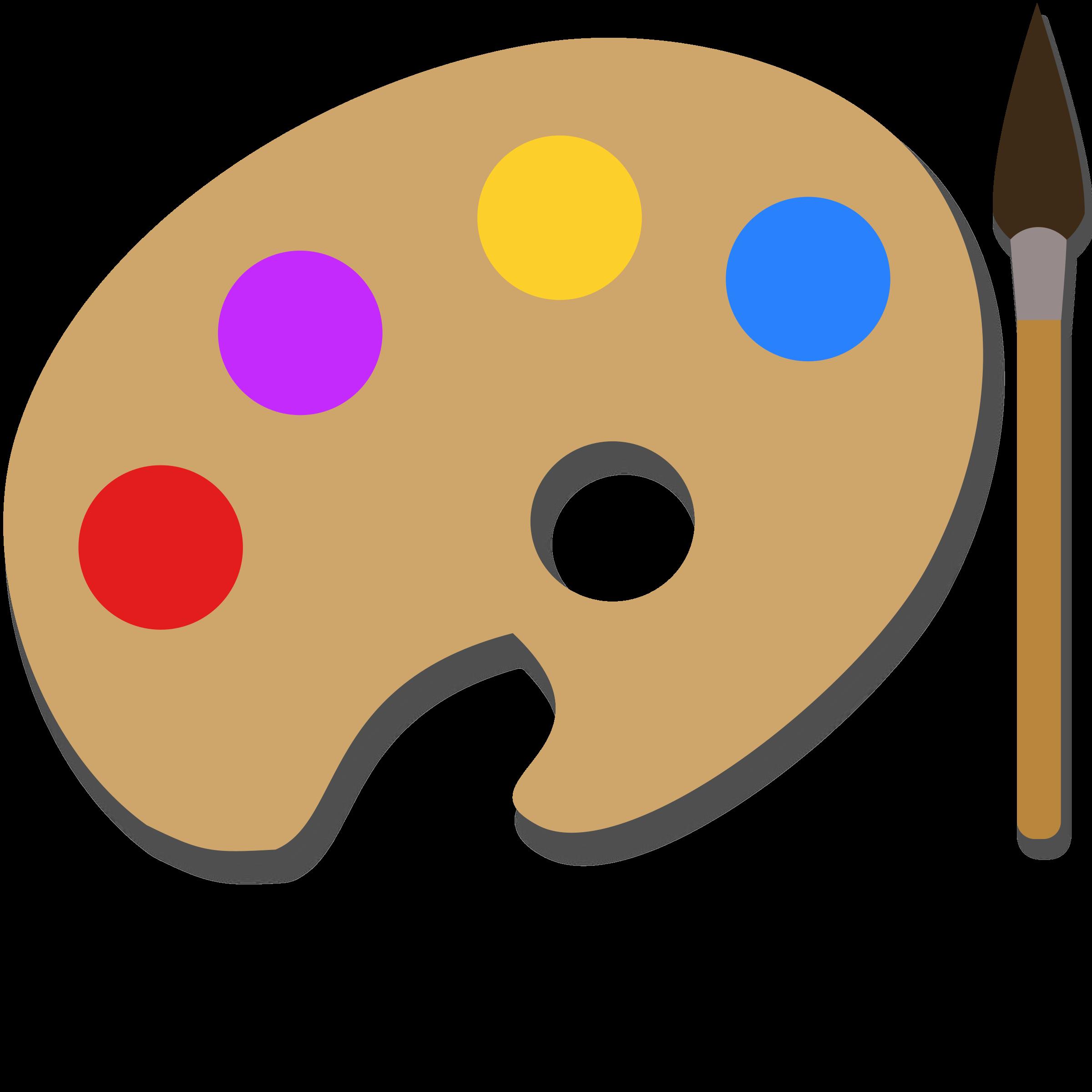 Paintbrush clipart art contest. Paint palette big image