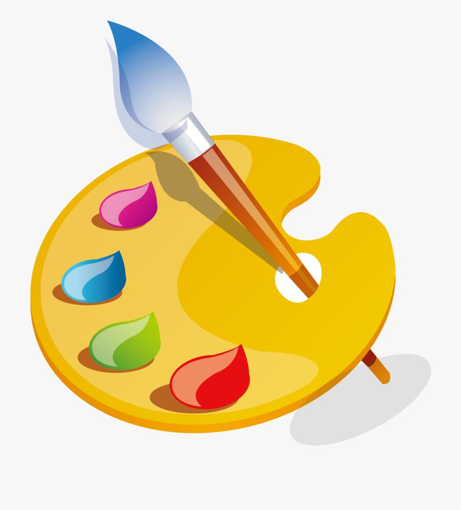 Painting utensilios de un. Painter clipart paint plate