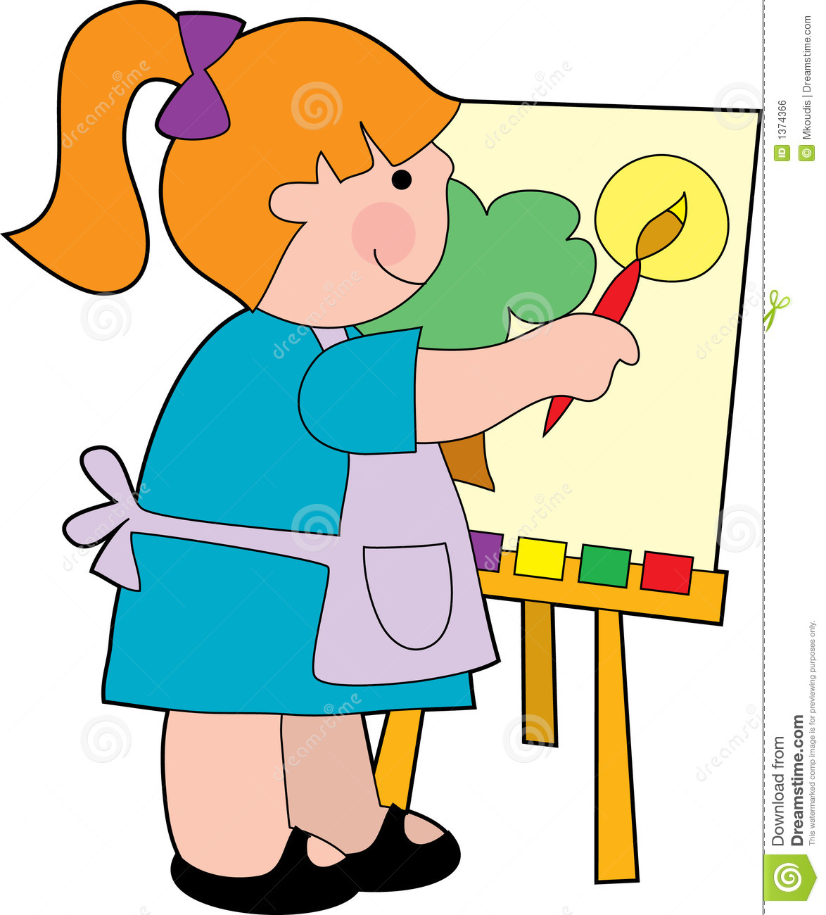 Painter clipart clip art. Kids painting free download