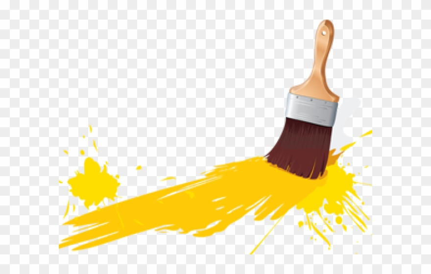 Paintbrush clipart painting. Paint brush building and
