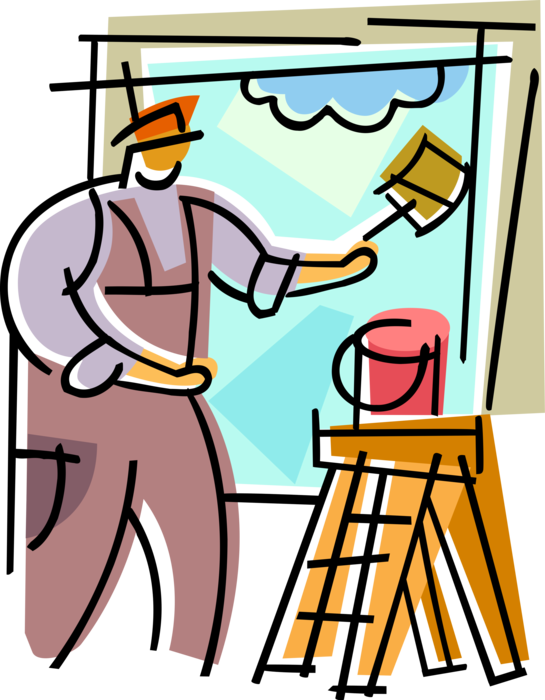 House painter paints with. Paint clipart painting room