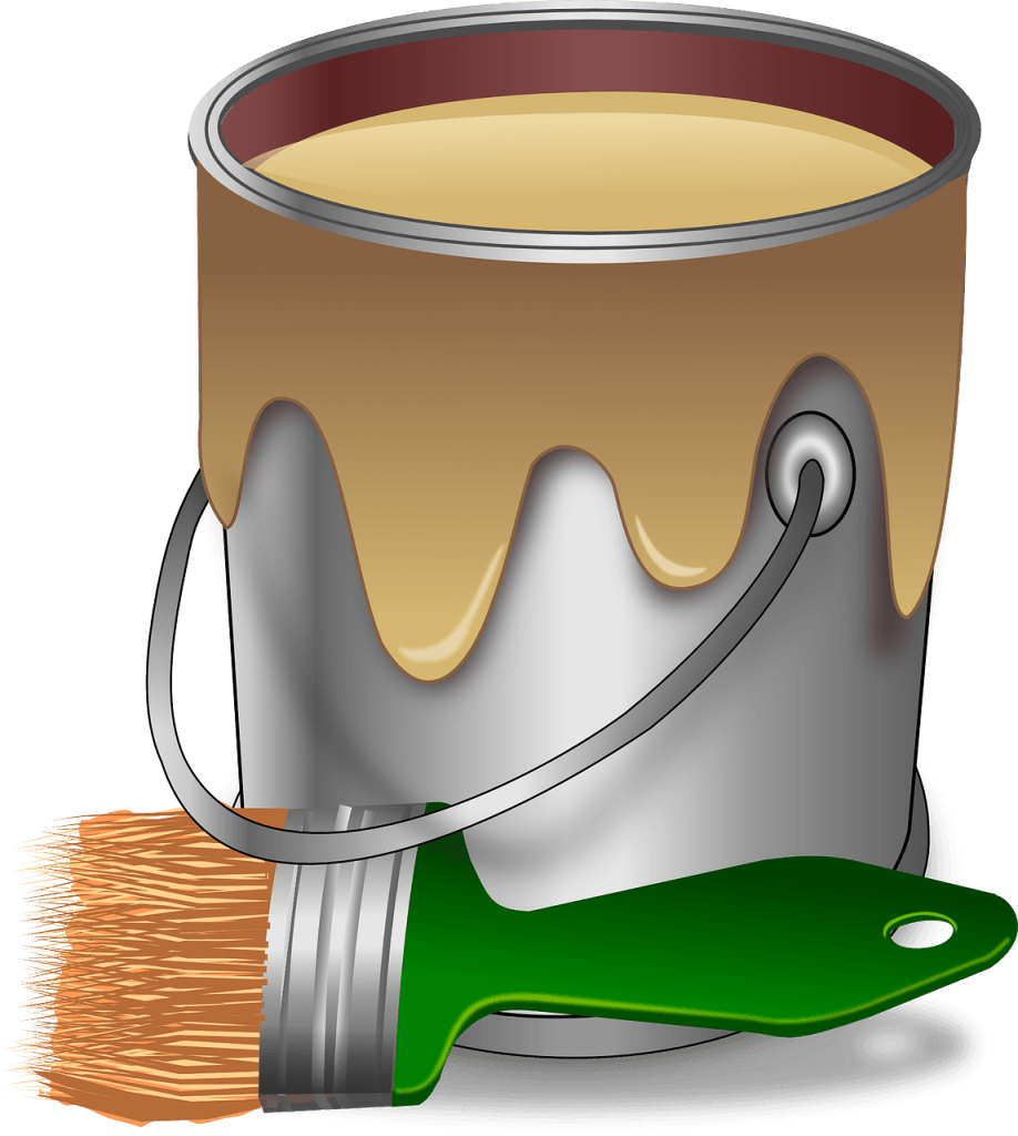 How to paneling step. Paint clipart painting room