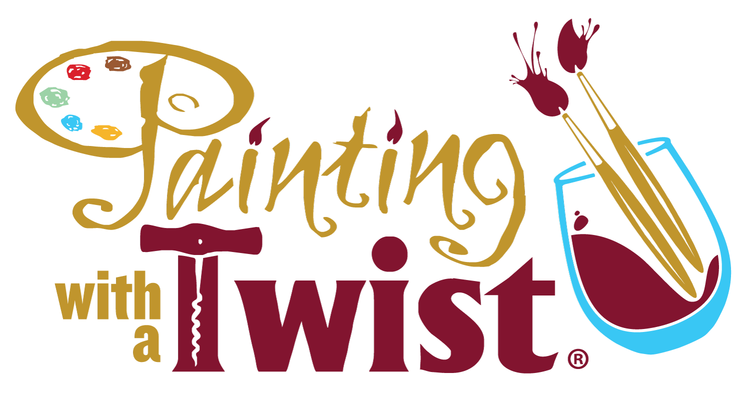 With a twist georgetown. Painting clipart painting logo