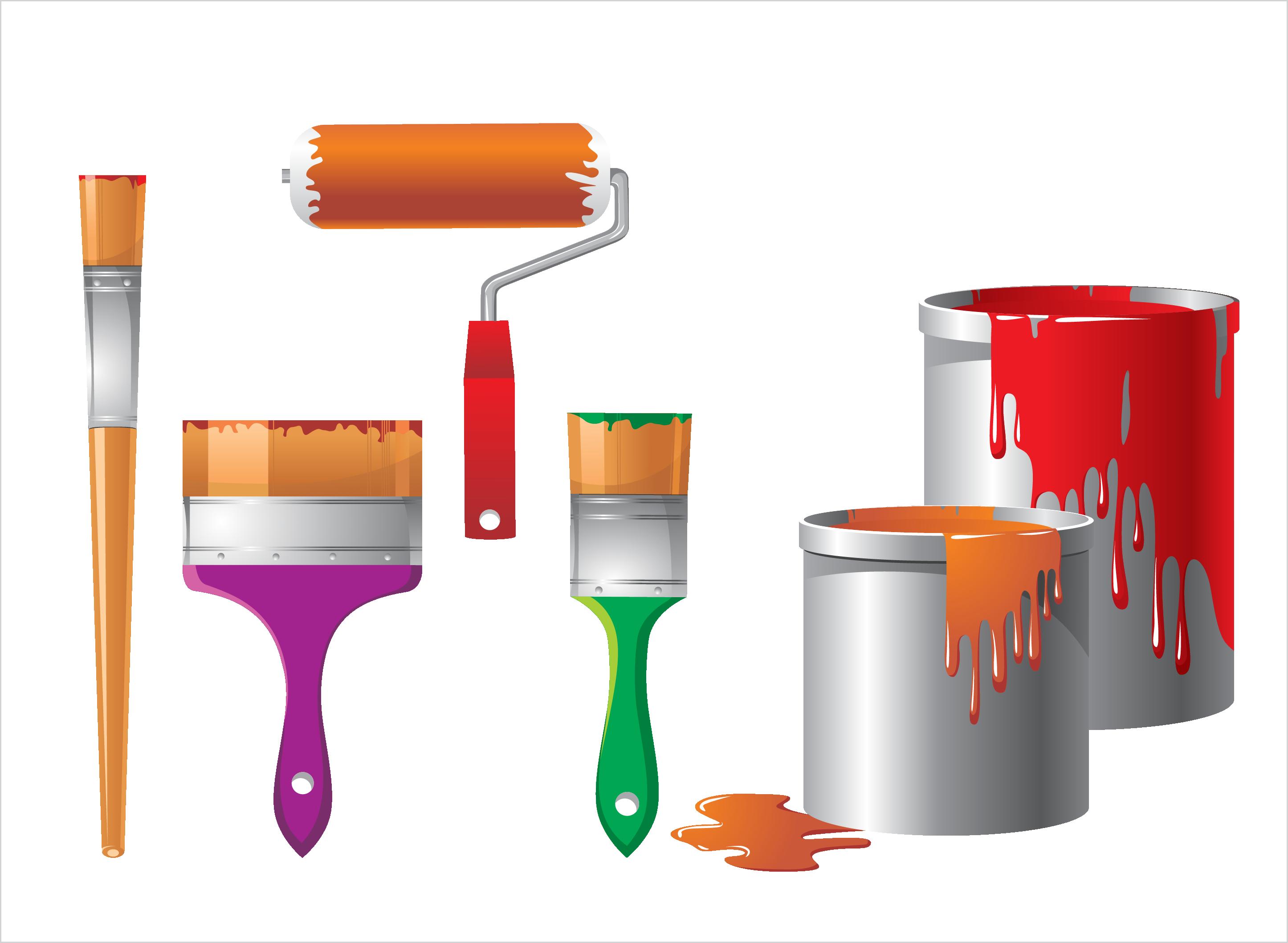 Tool clipart herramientas. Painting bucket clip art