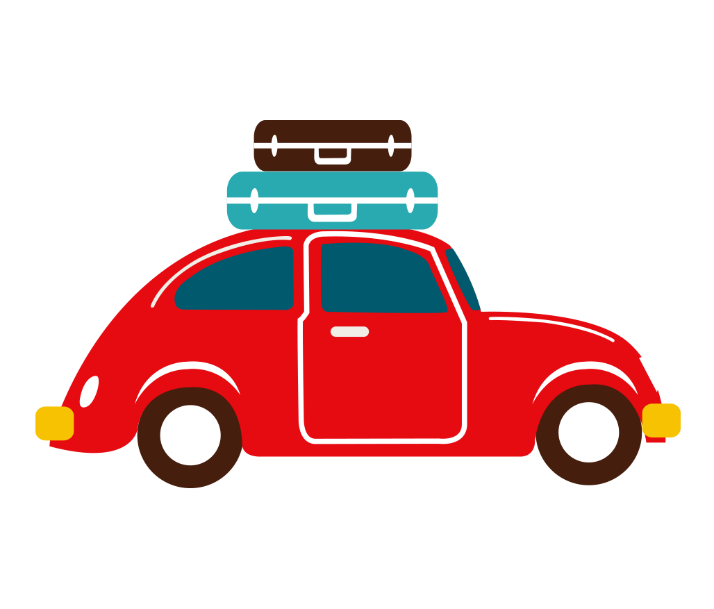 Paint clipart vehicle painting. Car picnic travel hand
