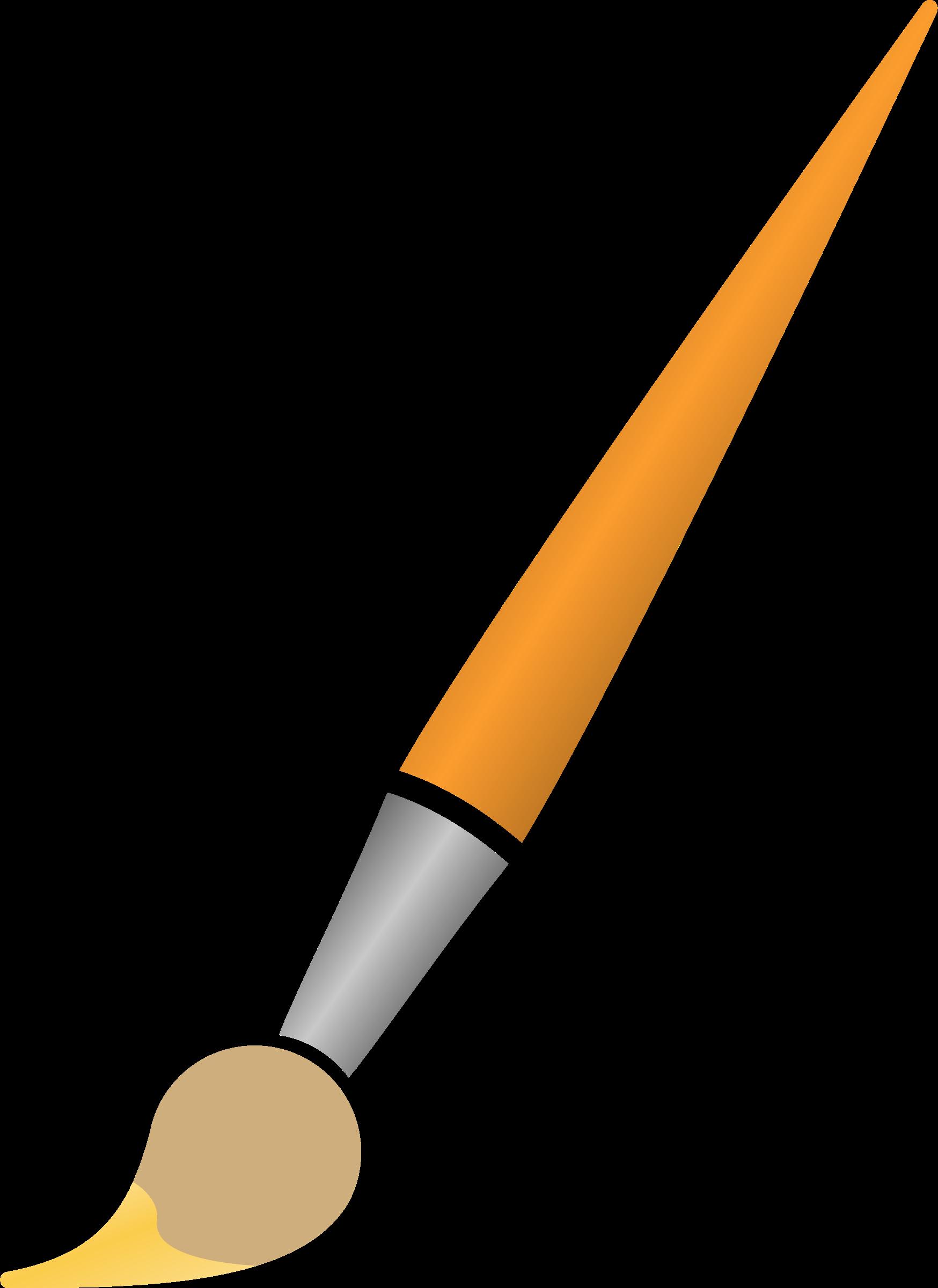 Paint brush with yellow. Paintbrush clipart green paintbrush