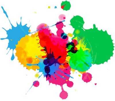 Paint splatter vector png. Cool with fewer colors