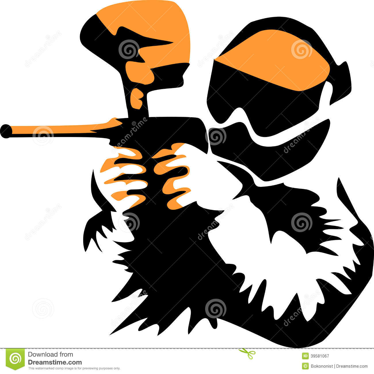 Paintball clipart. Black