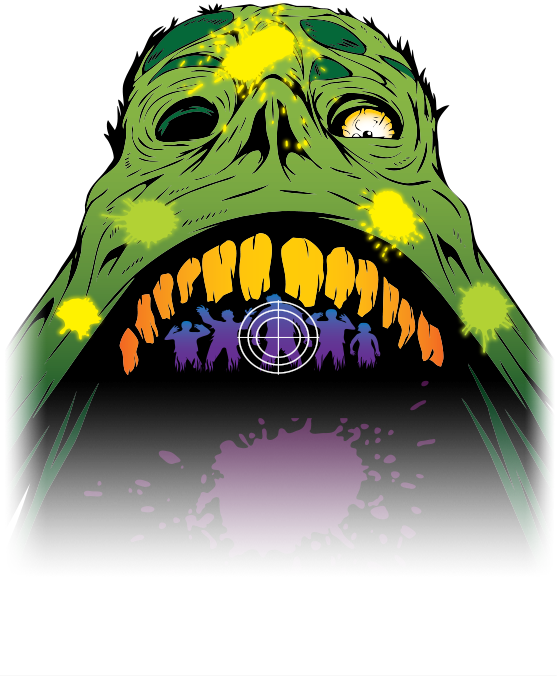 Paintball clipart blue blood. Zombie hunt the only