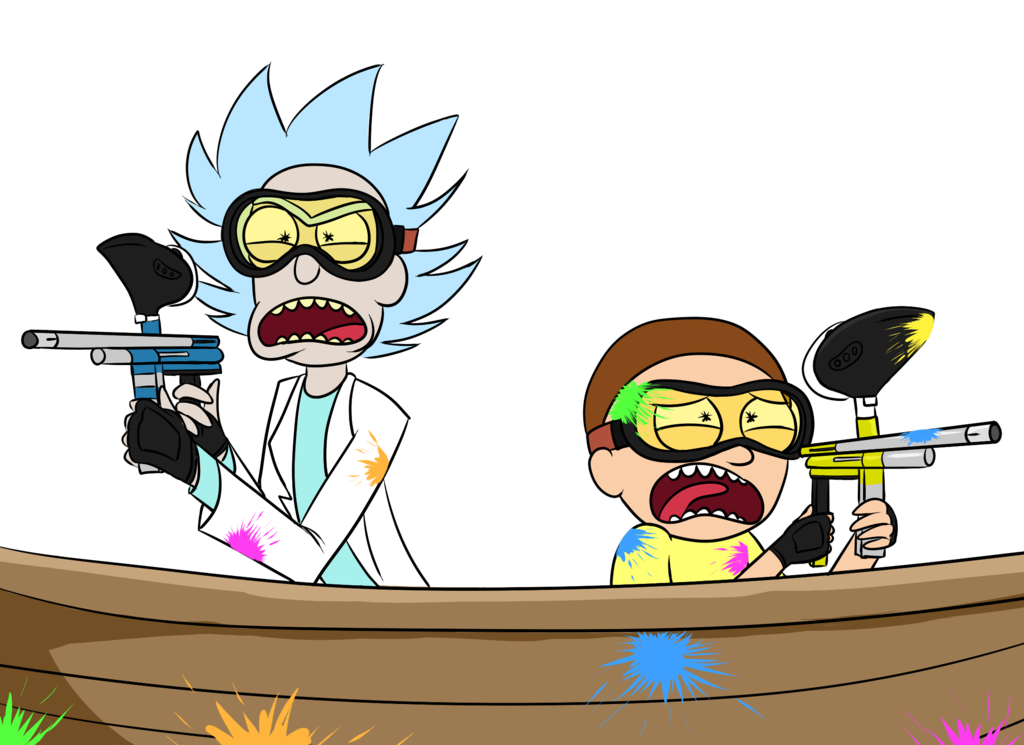 Its morty by tails. Paintball clipart booger