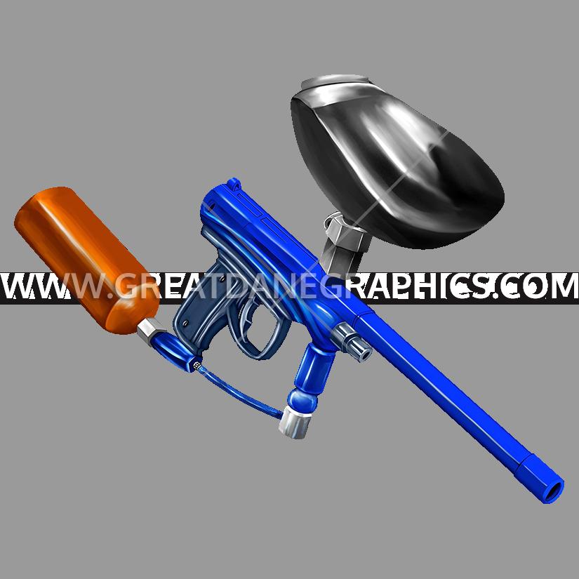 Paintball clipart paintball gun. Production ready artwork for