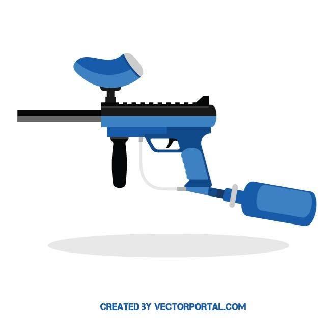 Pin on various vectors. Paintball clipart paintball gun