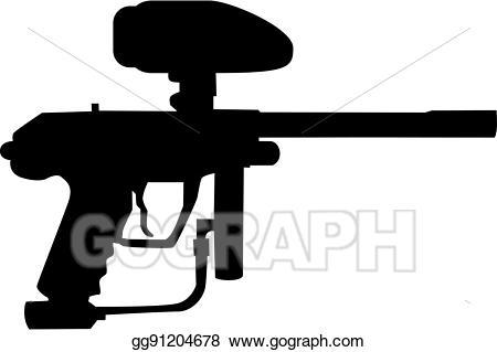 Clip art vector stock. Paintball clipart paintball gun