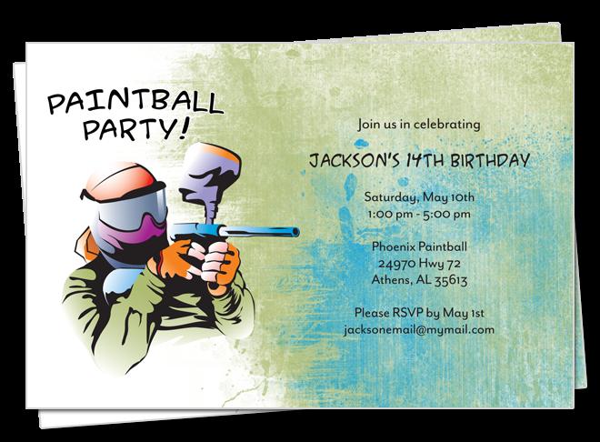 Belle announces invitation monday. Paintball clipart paintball party