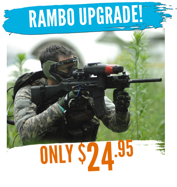Rental upgrades white river. Paintball clipart paintball party