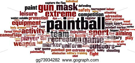 Paintball clipart word. Vector art cloud drawing
