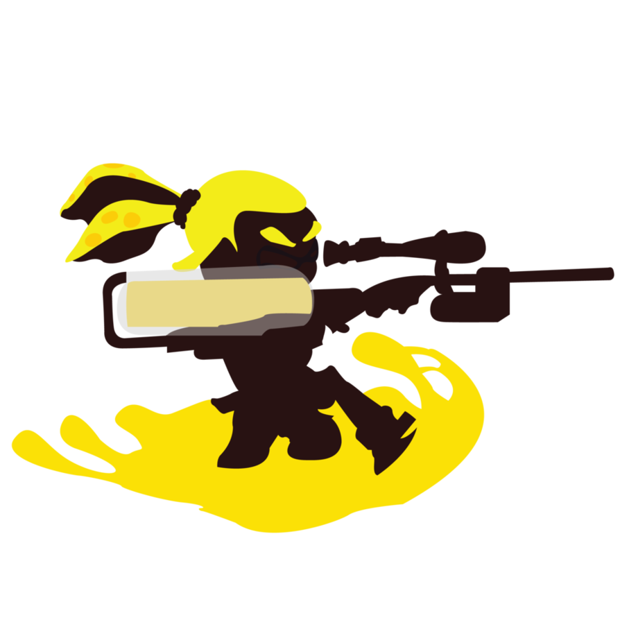 Male inkling sunset shores. Paintball clipart yellow slime