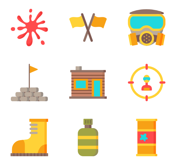Paintball clipart yellow slime.  icon packs vector