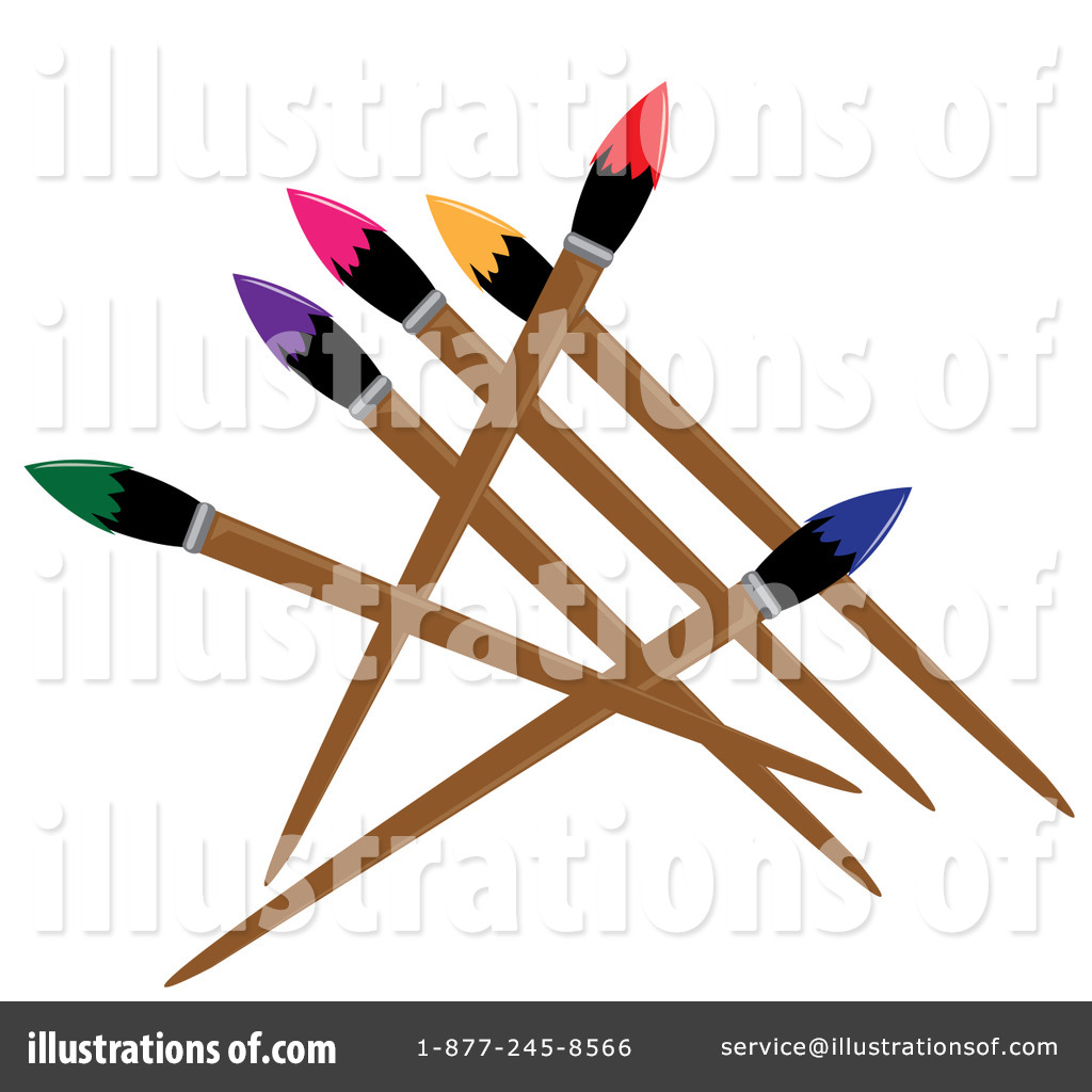 Paintbrush clipart. Illustration by pams royaltyfree